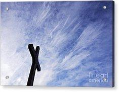 Wooden Cross Acrylic Print by Jeremy Woodhouse