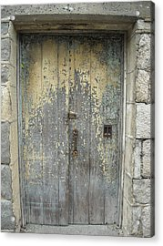 Acrylic Print featuring the photograph Wooden Doors by Christophe Ennis