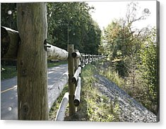 Wooden Fence Acrylic Print by Philip Porteus