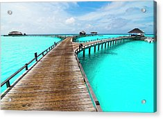 Wooden Jetty Acrylic Print by Luismaxx