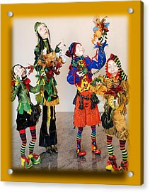 Wooden People Acrylic Print by Nataly Fomina