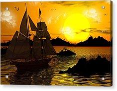 Wooden Ships Acrylic Print