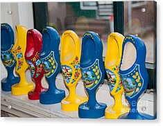 Acrylic Print featuring the digital art Wooden Shoes by Carol Ailles