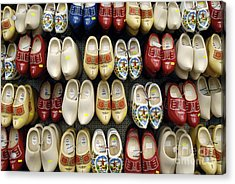 Wooden Shoes Acrylic Print by Ed Rooney