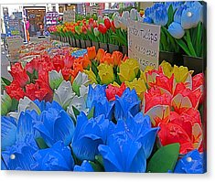 Wooden Tulips Acrylic Print by Blake Yeager