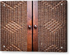 Wooden Wardroabe Acrylic Print