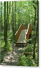 Acrylic Print featuring the photograph Woodland Bridge by Peg Toliver