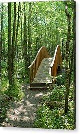 Woodland Bridge Acrylic Print