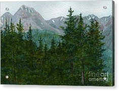 Woodland Overlook Acrylic Print by Vikki Wicks