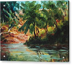 Woodland Stream Acrylic Print by Ethel Vrana