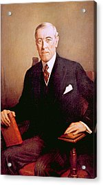 Woodrow Wilson 1856-1924, U.s Acrylic Print by Everett