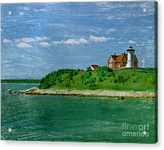 Woods Hole Lighthouse Acrylic Print by Bob Senesac