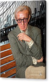 woody Allen Acrylic Print by Sophie Vigneault