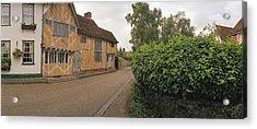 Wool Merchant House Lavenham Acrylic Print by Jan W Faul
