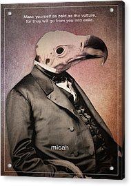 Word Micah Acrylic Print by Jim LePage