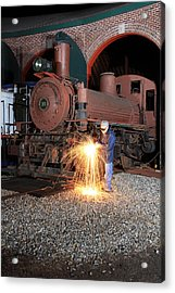 Working On The Railroad Acrylic Print