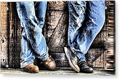 Working Shoes Acrylic Print by Kenneth Mucke