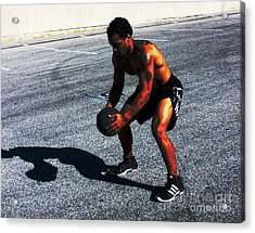 Workout In The Yard Acrylic Print by Sunset Road Fitness Photography