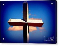 World Largest Cross In Illinois  Acrylic Print by Susanne Van Hulst