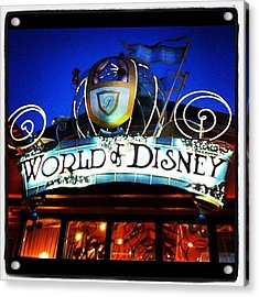 World Of Disney Acrylic Print