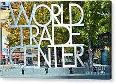 World Trade Center Acrylic Print by Kathleen Struckle