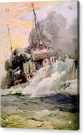 World War I, American Destoyer Laying Acrylic Print by Everett