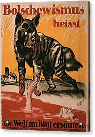 World War I, Bolshevism, Poster Shows Acrylic Print by Everett