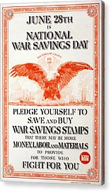World War I, Poster In The Style Acrylic Print by Everett