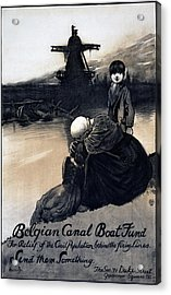 World War I, Poster Showing A Mother Acrylic Print by Everett
