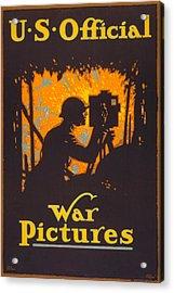 World War I, Poster Showing A War Acrylic Print by Everett