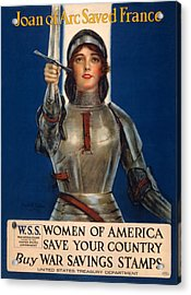World War I, Poster Showing Joan Of Arc Acrylic Print by Everett