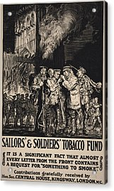 World War I, Poster Showing Soldiers Acrylic Print by Everett