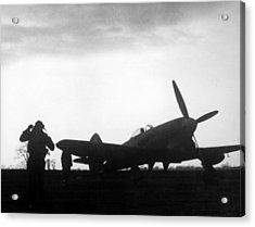 World War II, A British Fighter Pilot Acrylic Print by Everett