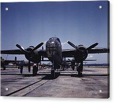 World War II, B-25 Bomber Planes Acrylic Print by Everett
