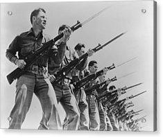 World War II, Bayonet Practice Acrylic Print by Everett