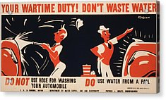 World War II, Poster For A New York Acrylic Print by Everett