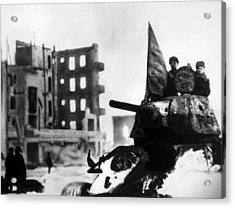 World War II, Russian Winter Offensive Acrylic Print by Everett