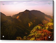 Worlds End. Horton Plains National Park I. Sri Lanka Acrylic Print by Jenny Rainbow