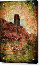 Worship In Sedona Acrylic Print by Dale Stillman