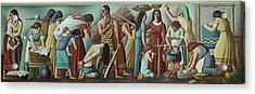 Wpa Mural. Contemporary Justice Acrylic Print by Everett