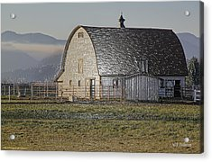 Wrapped Barn Acrylic Print by Mick Anderson