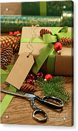 Wrapping Gifts For The Holidays Acrylic Print