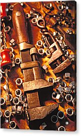 Wrench Tools And Nuts Acrylic Print by Garry Gay