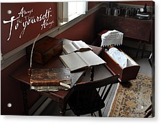 Writers Desk Acrylic Print by Daryl Macintyre