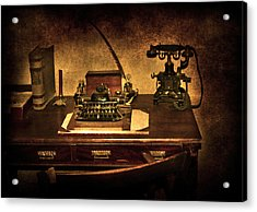 Writers Desk Acrylic Print by Svetlana Sewell