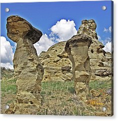 Writing On Stone 1 Acrylic Print