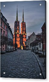Wroclaw Cathedral Acrylic Print by Sebastian Musial