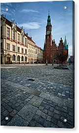 Wroclaw Town Hall Acrylic Print by Sebastian Musial