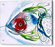 Wtfish 001 Acrylic Print by J Vincent Scarpace