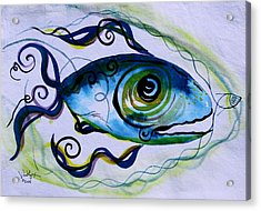 Wtfish 009 Acrylic Print by J Vincent Scarpace